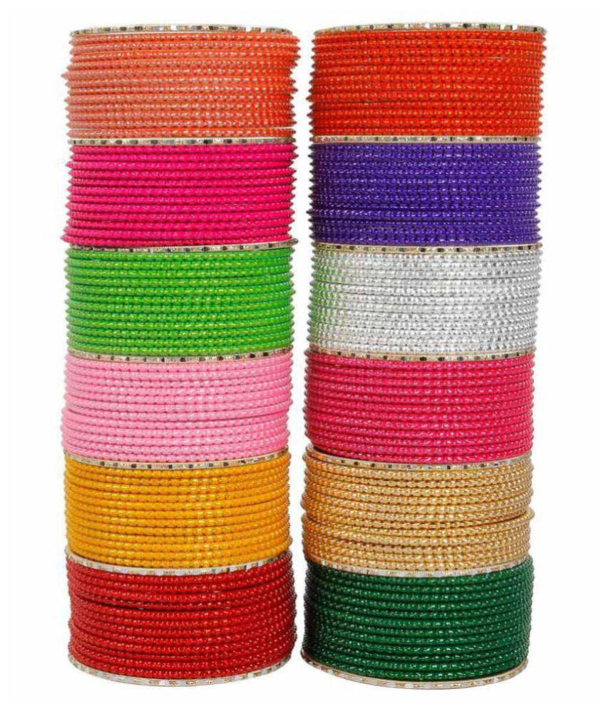 Muchmore Multicolour Alloy Bangle Set