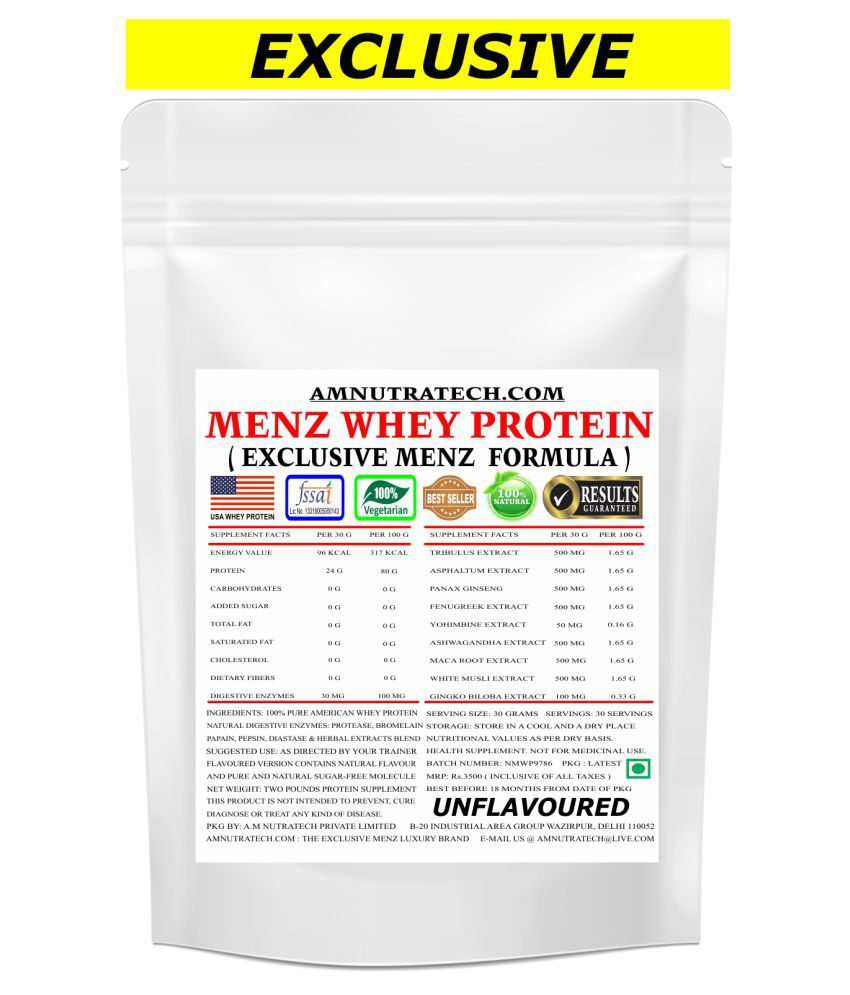 AM NUTRATECH Menz Whey Protein ( Unflavoured ) 2 lb