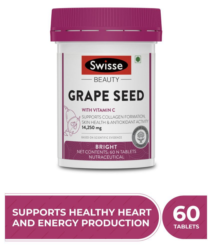 Swisse Ultiboost Grape Seed Tablets with Vitamin C Tablets 60 mg