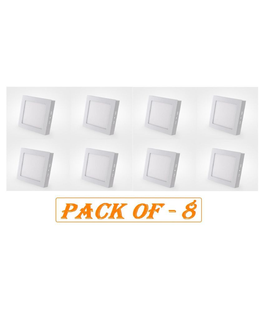 D'Mak Surface 12W Square Ceiling Light 16.2 cms. - Pack of 8