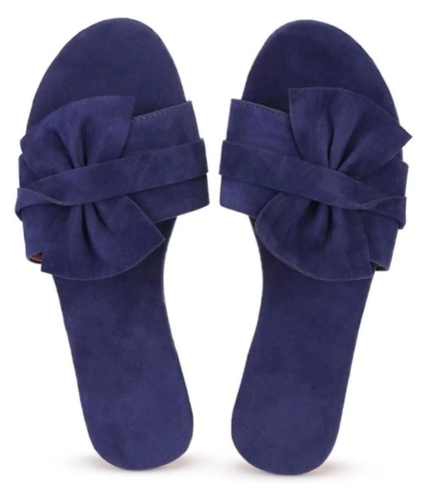 Apratim Blue Flats