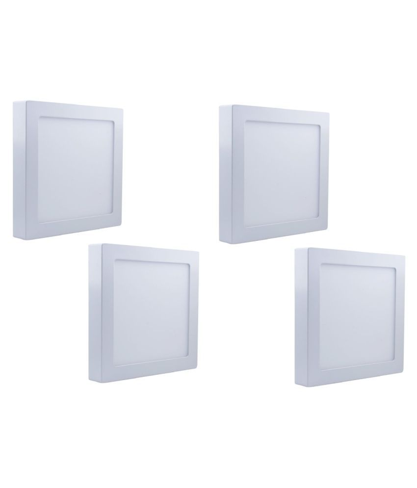 D'Mak Surface 18W Square Ceiling Light 21 cms. - Pack of 4
