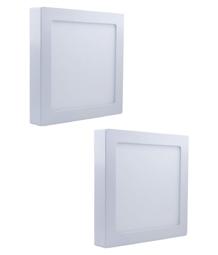 D'Mak Surface 22W Square Ceiling Light 21 cms. - Pack of 2