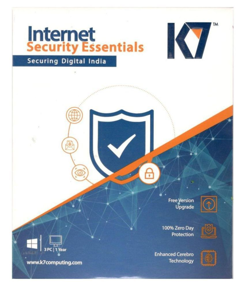 K7 Internet Security   3 Computers, 1 Year  1 License   Email Delivery in No CD