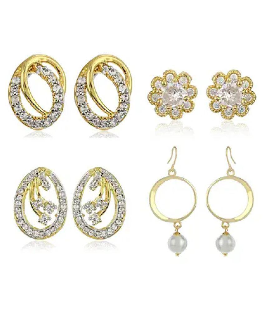 Estele Special Diamante Earrings Combo Set