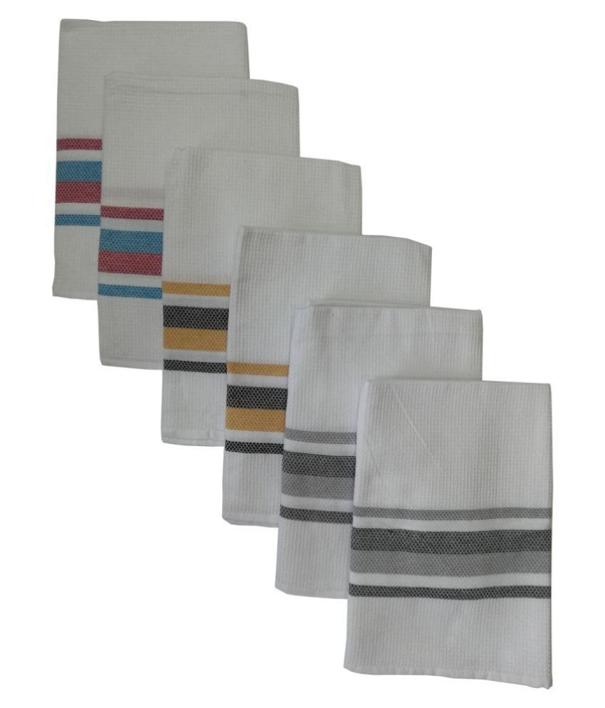 Athom Trendz Set of 6 Cotton Bath Towel Multi