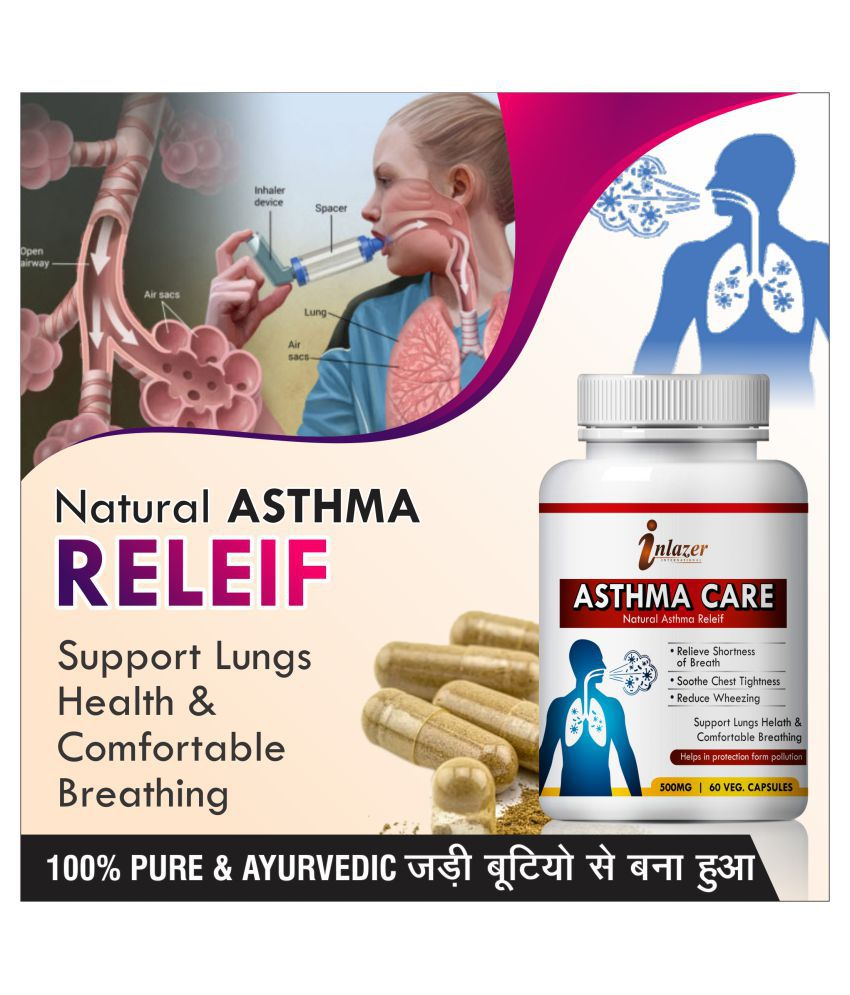 Inlazer Asthama Care for help asthma problems Capsule 60 ...