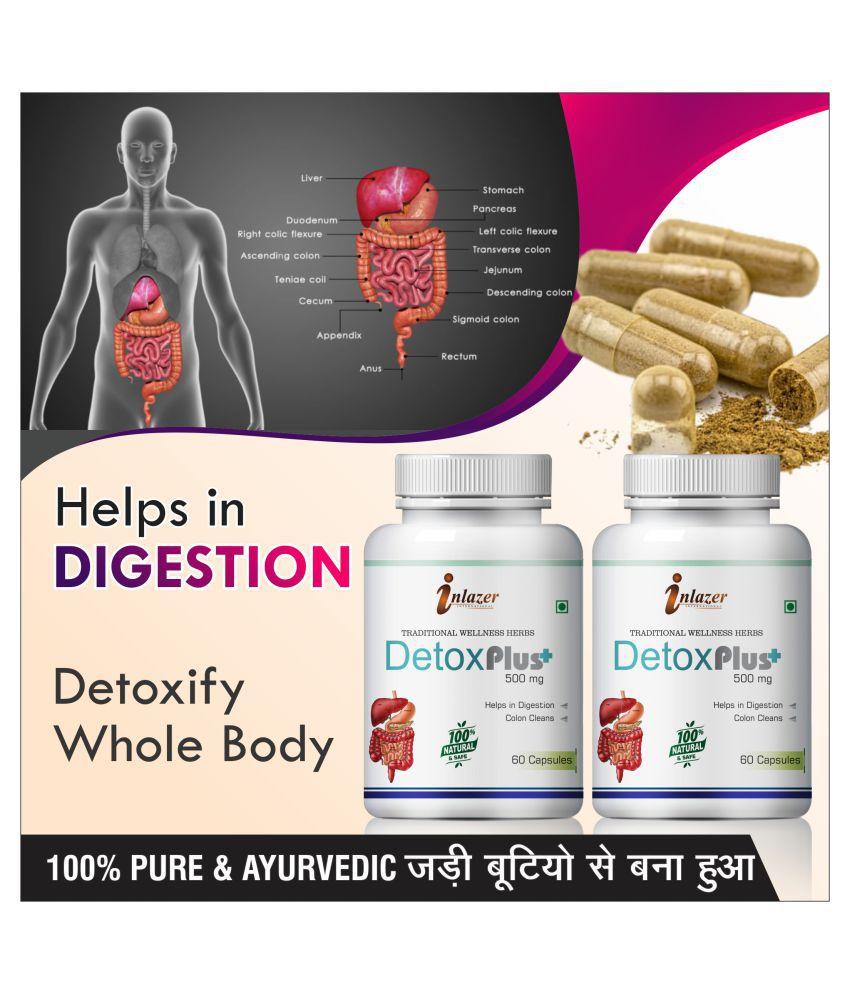 Inlazer Detox plus fatty liver diseases Capsule 120 no.s Pack Of 2