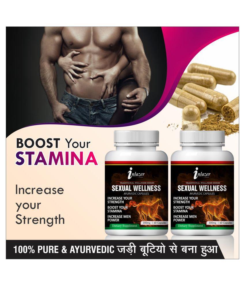 Inlazer Sexuall wellness  herbal capsules Capsule 120 no.s Pack Of 2