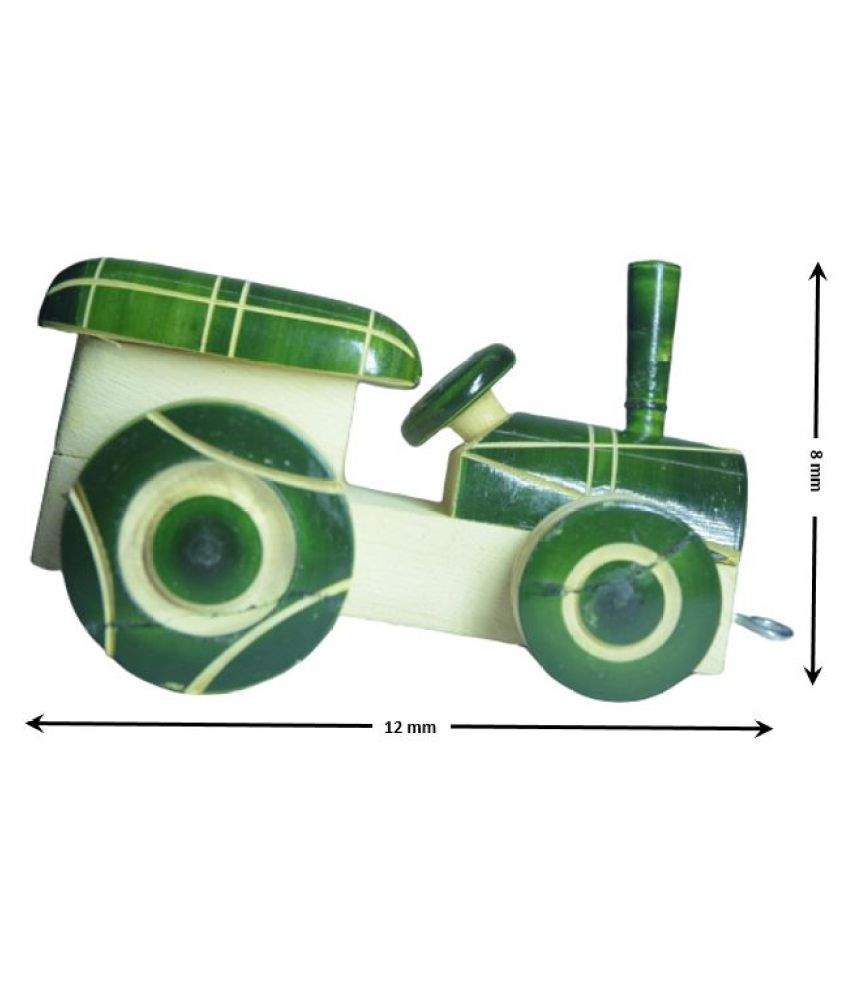 Wooden Handcrafted War track toy for kids - Channapatna Toys - Showpiece