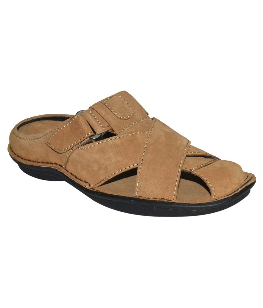 Human Steps Khaki Suede Sandals