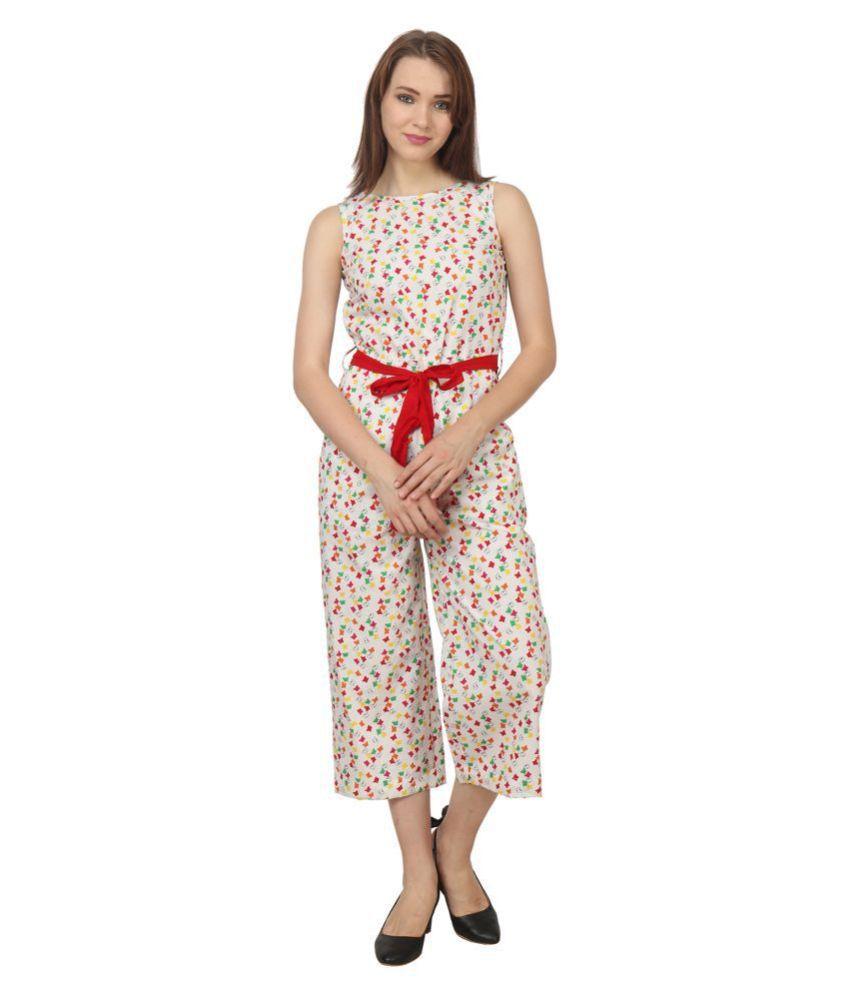 Apella Multi Color Cotton Jumpsuit