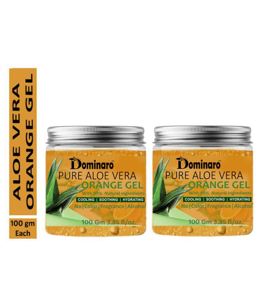 Dominaro Pure Aloe Vera Orange Face Gel & Glow Skin Moisturizer 200 gm Pack of 2