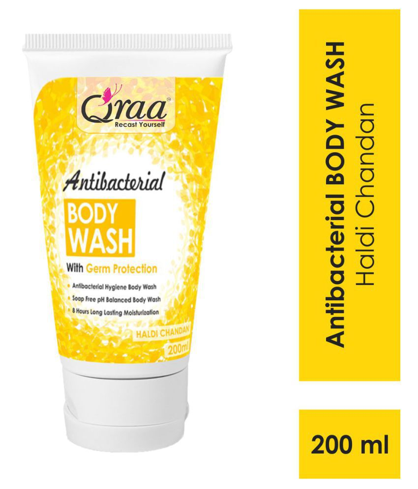 Qraa Antibacterial Body Wash With Goodness Of Haldi Chandan , Germ Protection Shower Gel 200 mL