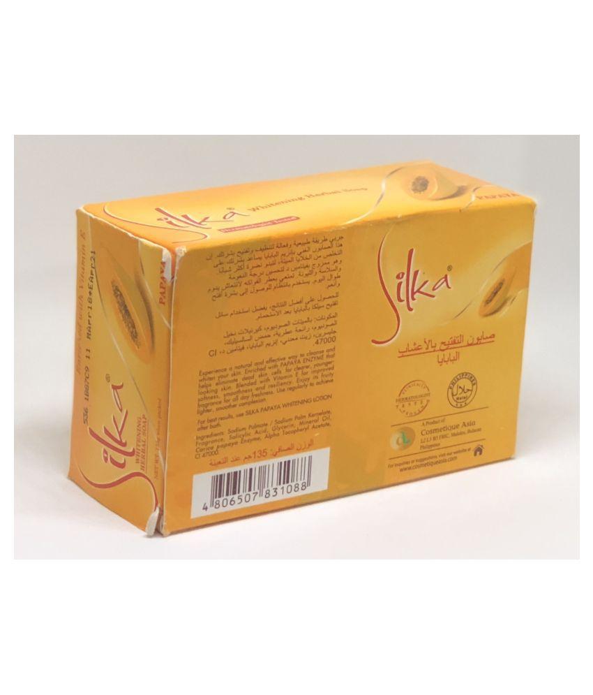 Silka Skin whitening papaya Soap 135 g: Buy Silka Skin ...