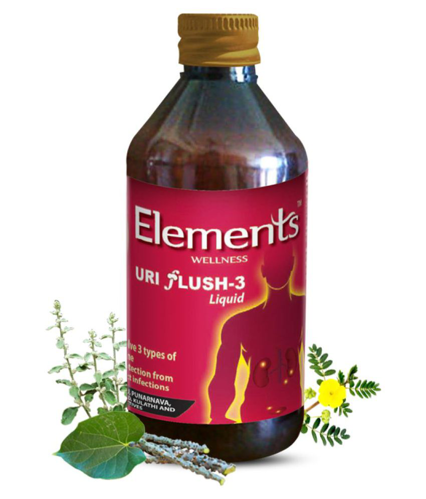 Elements Wellness URI FLUSH 3 Liquid 3 ml Pack of 3