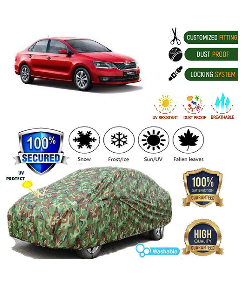 QualityBeast Jungle Car cover for Skoda Rapid [2014-2015]