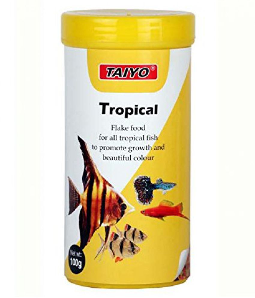 TAIYO Flake Food For Tropical Fishes Growth and Health,Nutrition-100gm