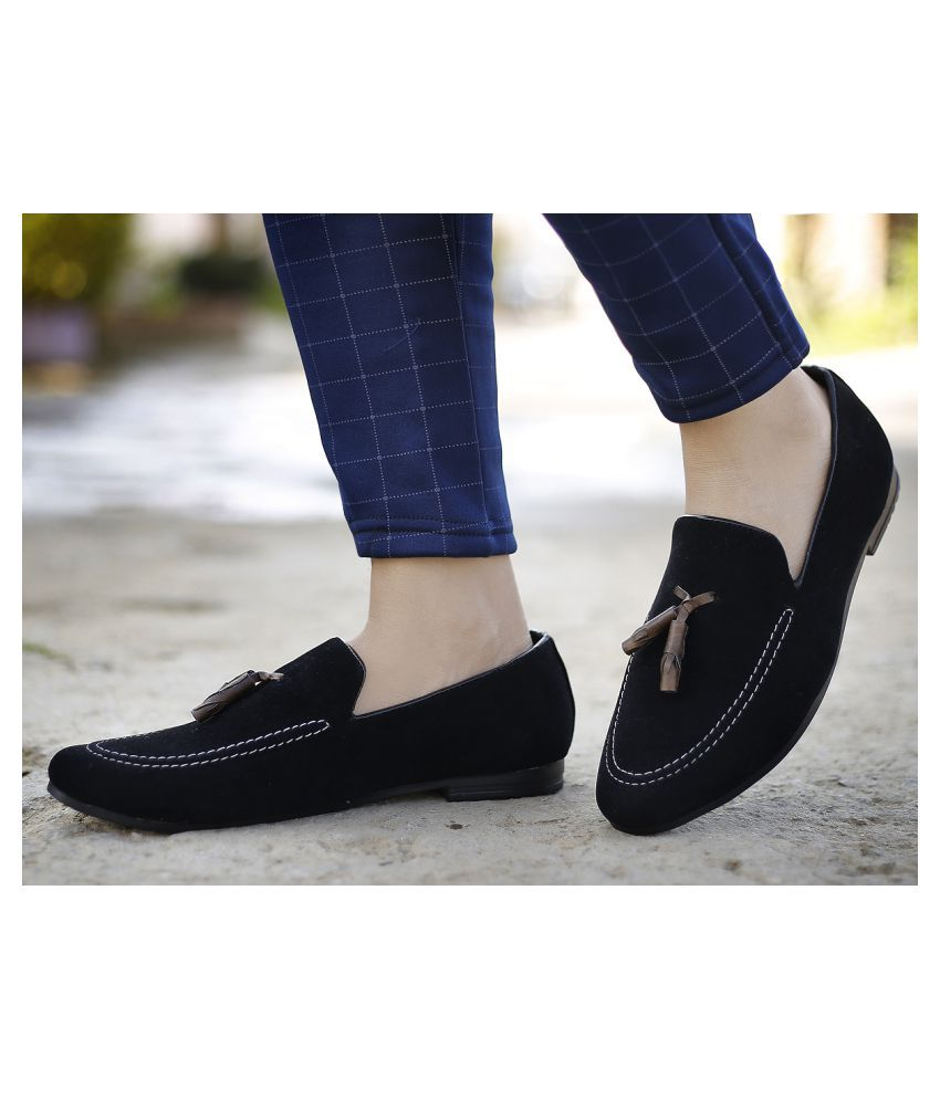 YUVRATO BAXI Party Artificial Leather Black Formal Shoes