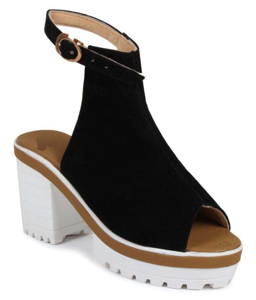 Shoe Cloud Black Stiletto Heels