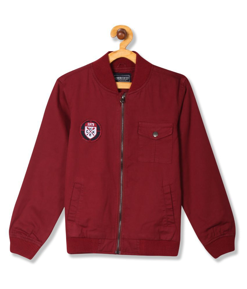 Boys Solid Bomber Jacket