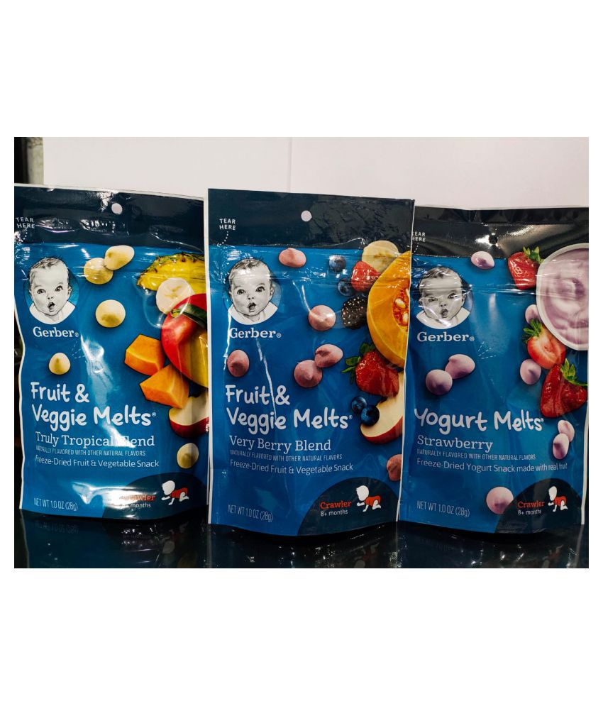 Gerber Baby Food DRIED FRUIT AND STRAWBERRY Snack Foods for 6 Months + ( 84 gm )