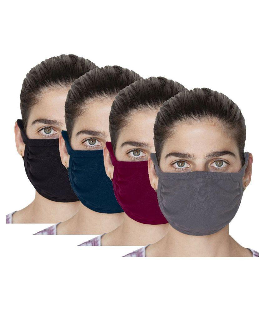 triene multi color cotton face mask pack of 20
