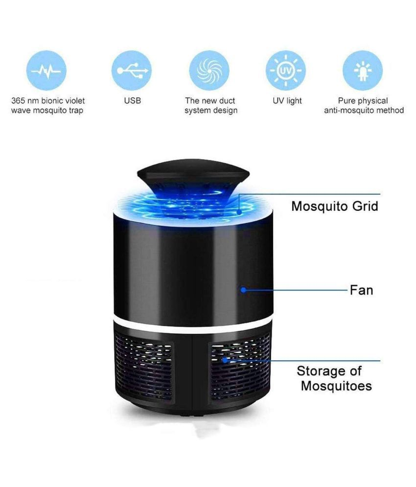 DCT Photocatalysis Mute LED Electronic Mosquito Killer Machine |Trap, Bug Zapper and Insect Killer Night Lamp for Pest Control for Bed Room, Home, Gar