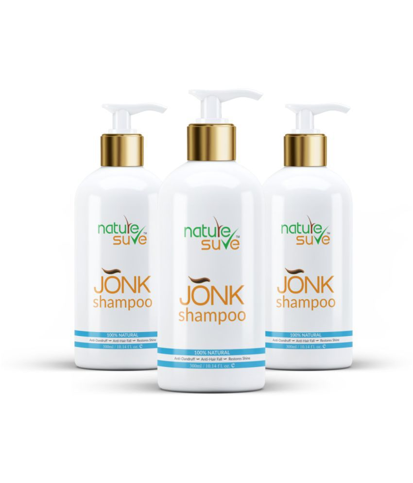 Nature Sure Jonk Shampoo Hair Cleanser for Men & Women – 3 Packs (300ml Each) Shampoo 900 mL Pack of 3