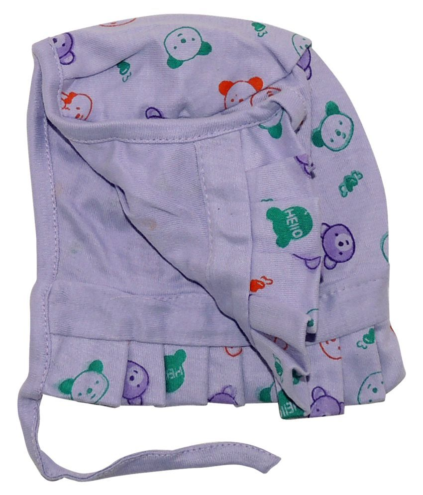 Life Begin with Satyamani Baby Deluxe Cap Printed Large (9 months above) size (Pack of 6)