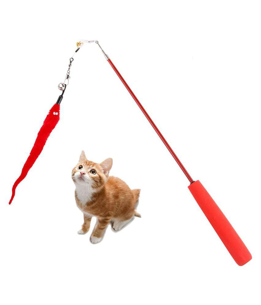 Teaser Toy with Bell for Cat (Random Color)