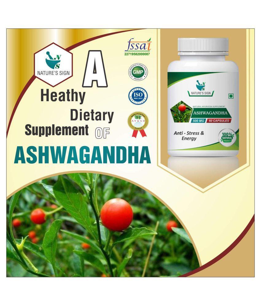 Nature's Sign Ashwagandha Anti-Stress & Energy 1 gm