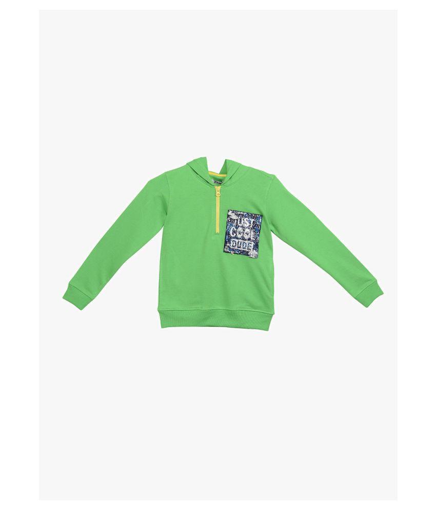 2Bme Kids Boys Green Fashion Sweatshirt
