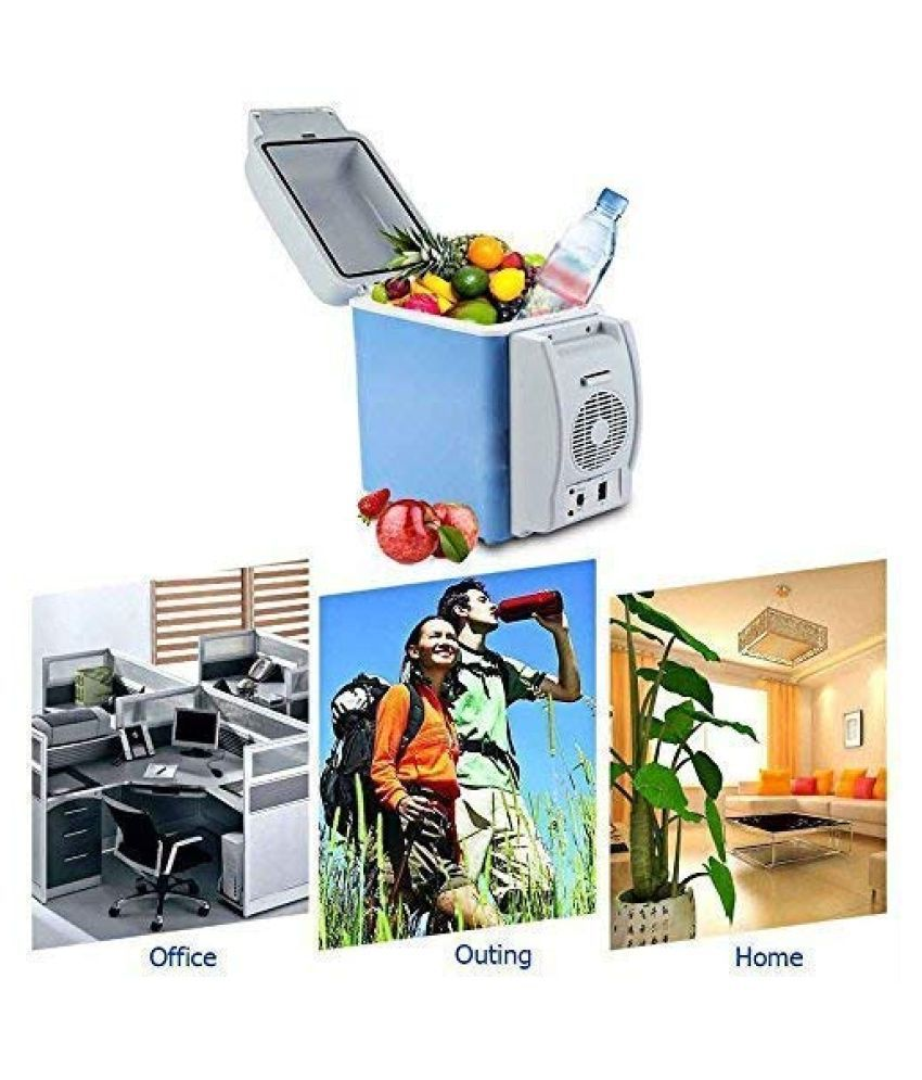 CUBICV Portable 12V 7.5L ABS Multi Function Auto Car Mini Fridge Travel Refrigerator Home Cooler Freezer, Warmer