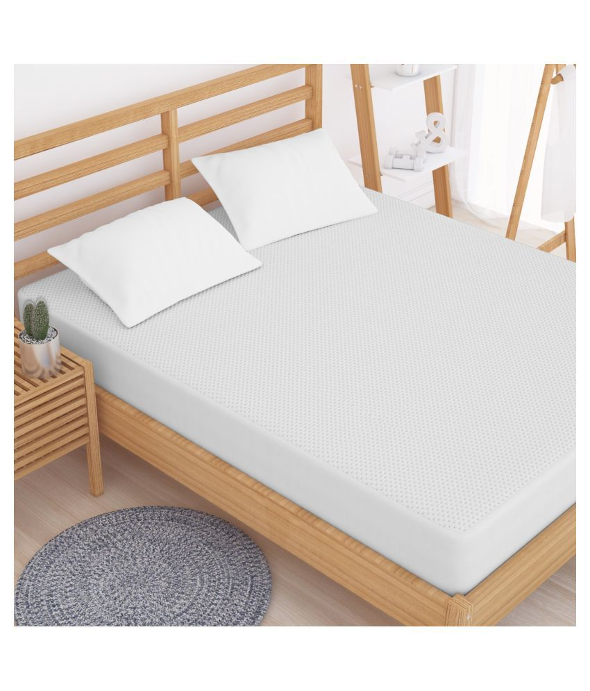 Story@Home DMP1401 White Cotton Mattress Protector