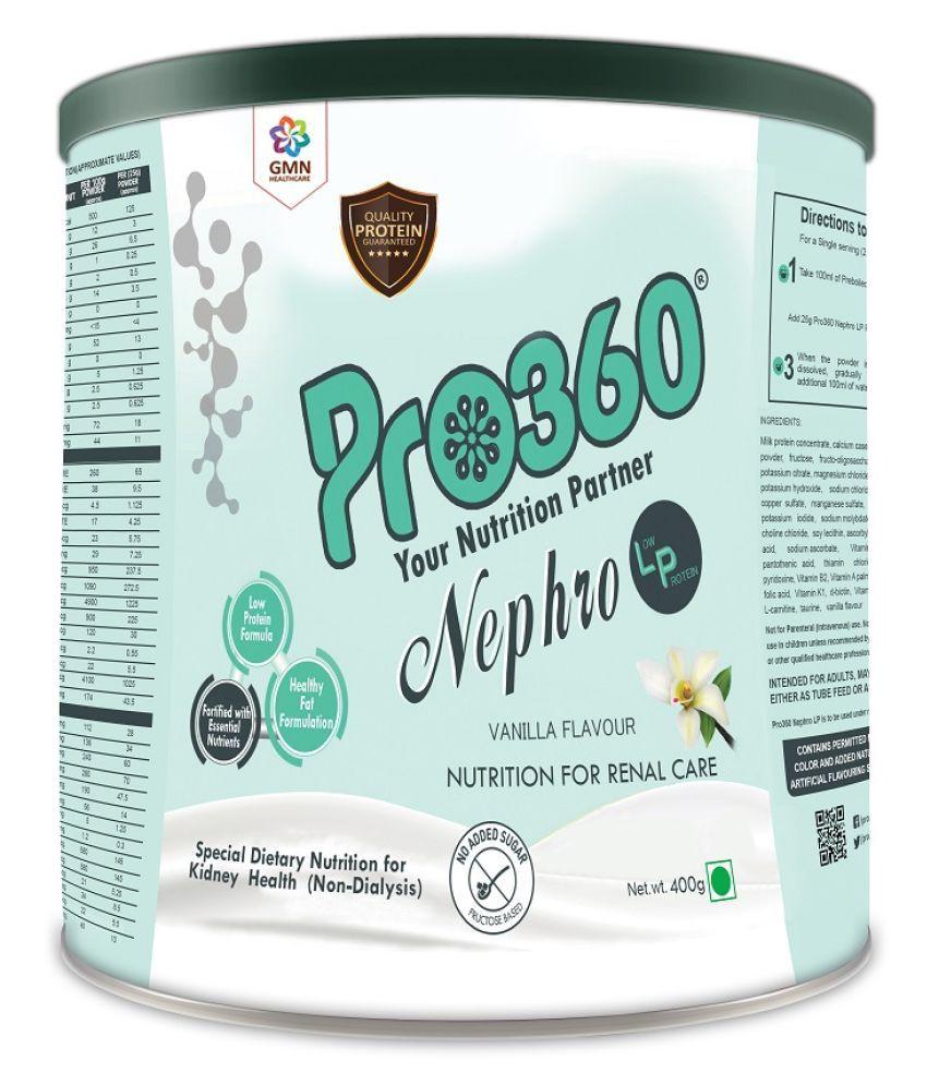 PRO360 NEPHRO LP Non-Dialysis Protein Health Drink Powder 400 gm Vanilla