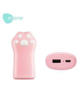 Inone P16 5000  mAh Li Polymer Power Bank Pink