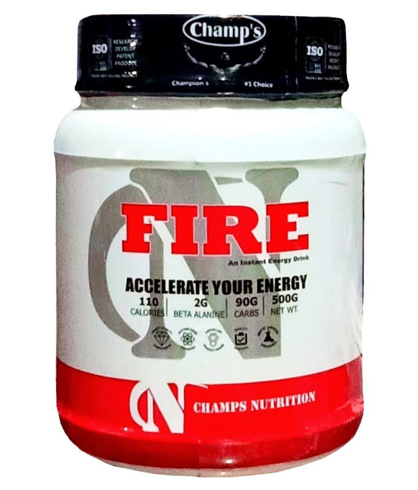 Champs Nutrition Fire (Orange) Energy Drink for All 500 gm