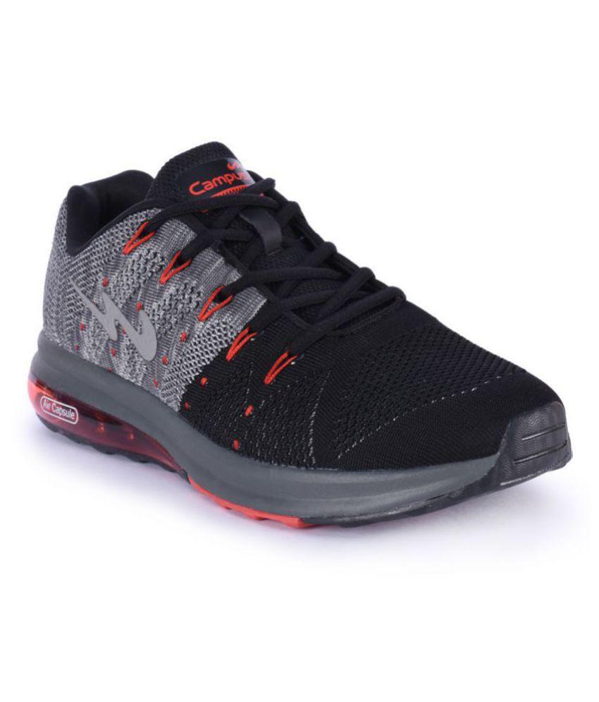 Campus Outdoor Black Casual Shoes