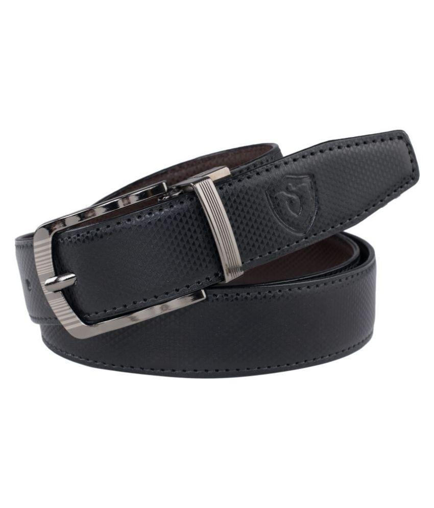 Keviv Black Leather Casual Belt