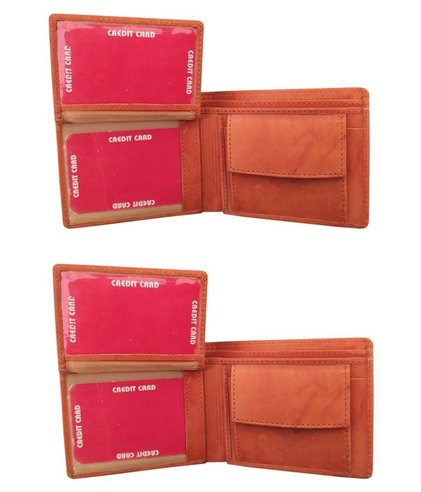 LYREM Leather Tan Sport Regular Wallet