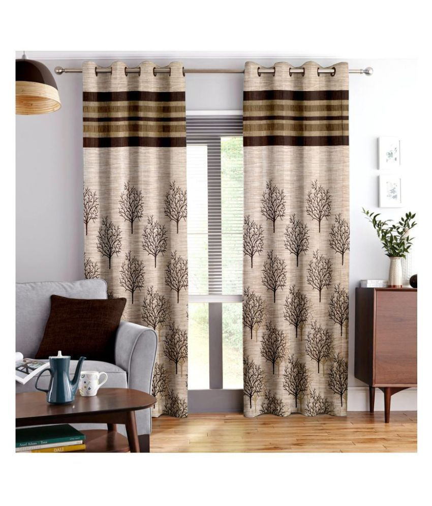 Story@Home Single Window Eyelet Polyester Curtains White