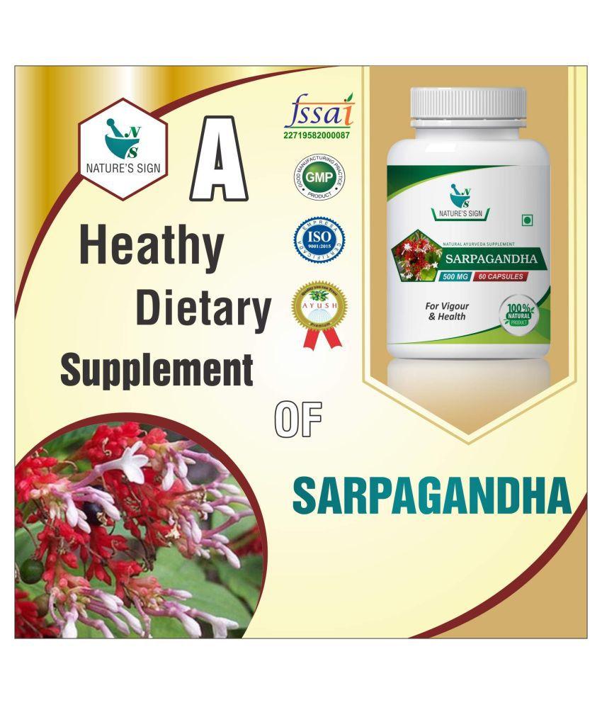 Nature's Sign Sarpagandha For Vigour  Health 1 gm