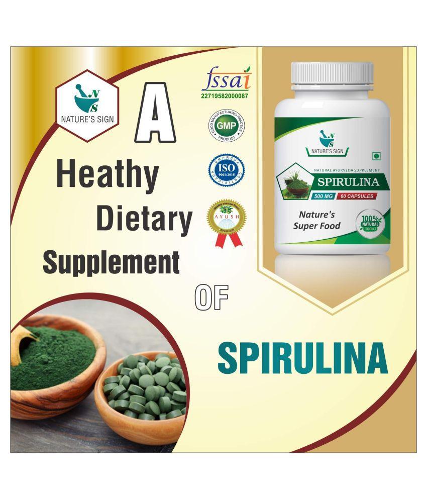 Nature's Sign Spirulina nature's Super Food 1 gm