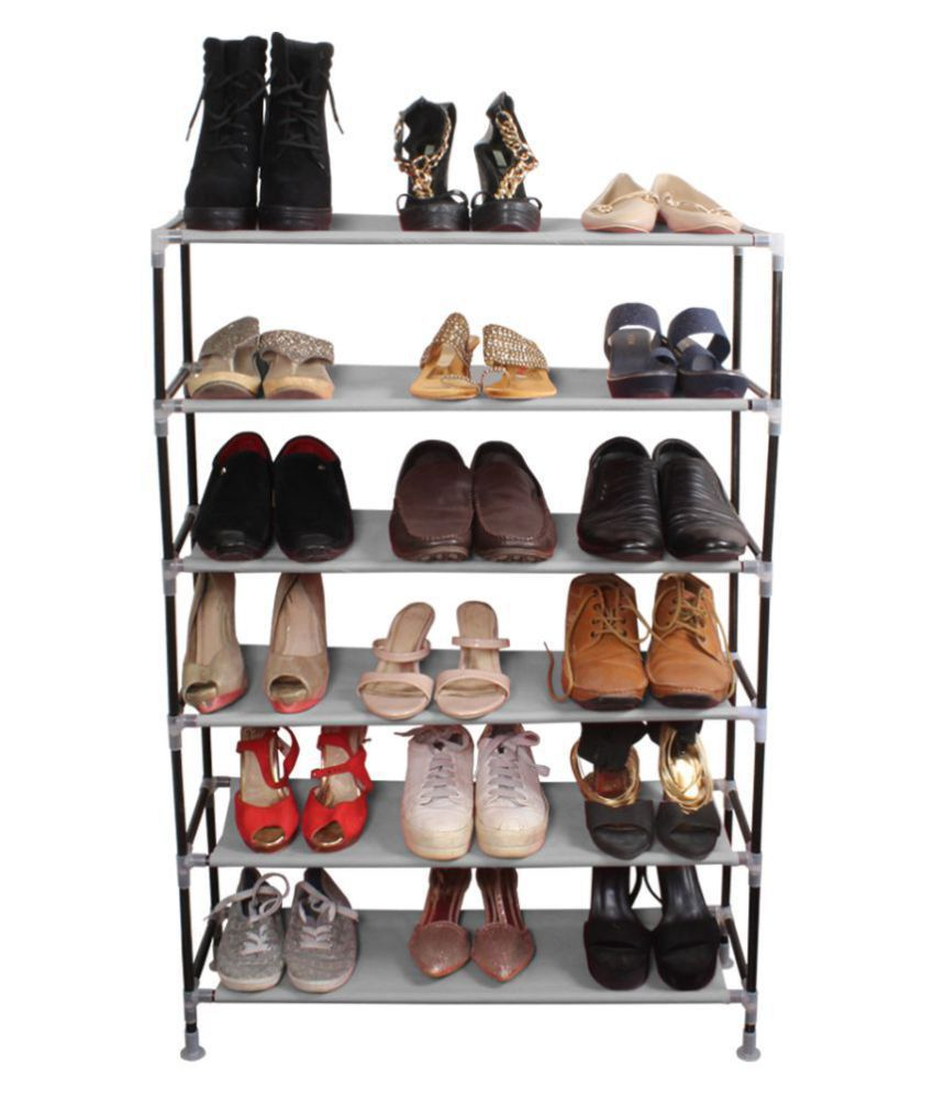 PrettyKrafts Iron More Than 5 Tier Shoe Rack Assorted