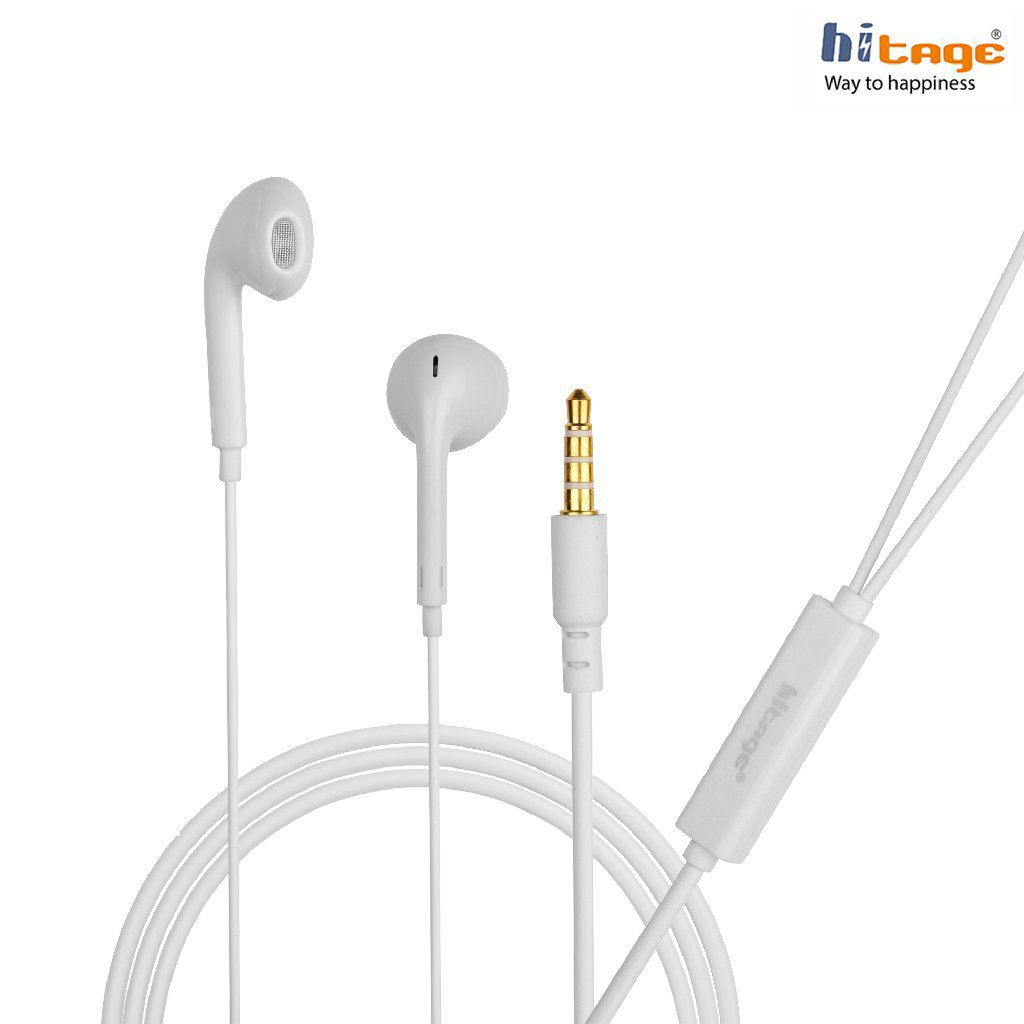 Hitage MicroBirdss Earphones Ear Buds Wired Earphones With Mic  Compatible with VIVO, OPPO, Mi, Redmi, Samsung