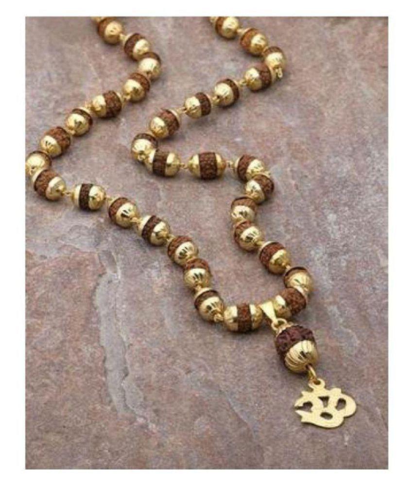 rudraksh cap mala with om rudraksh pendant