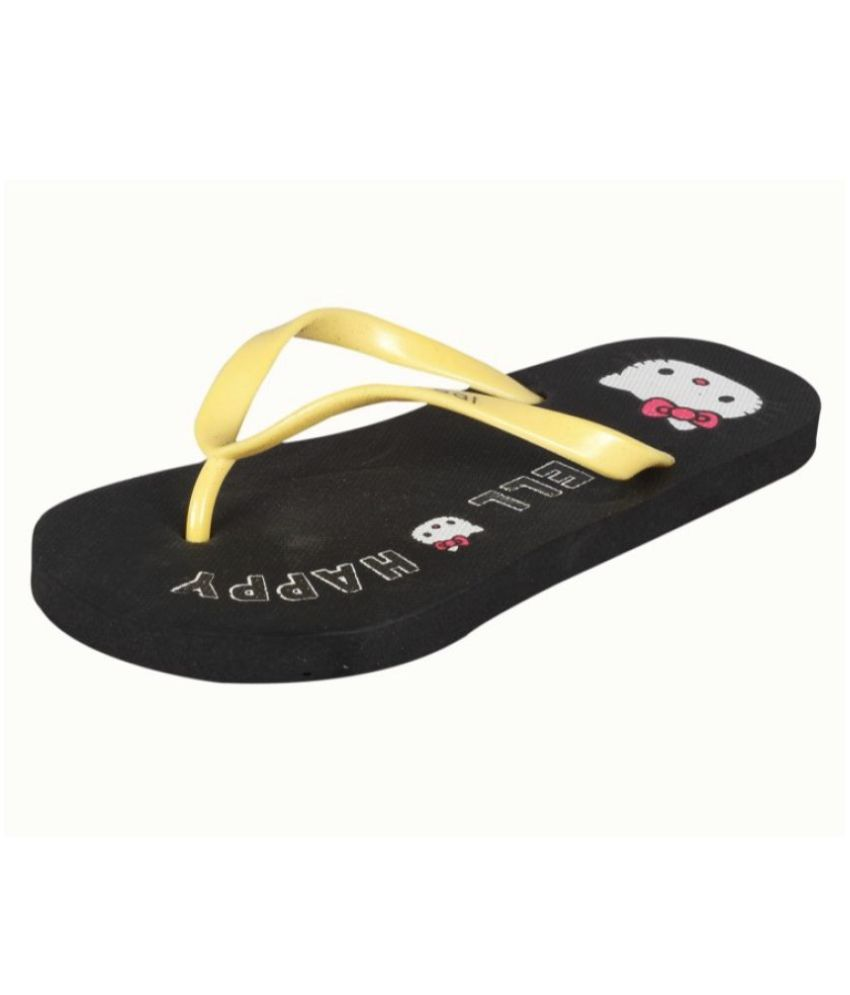 ALKAWAL Black Slippers