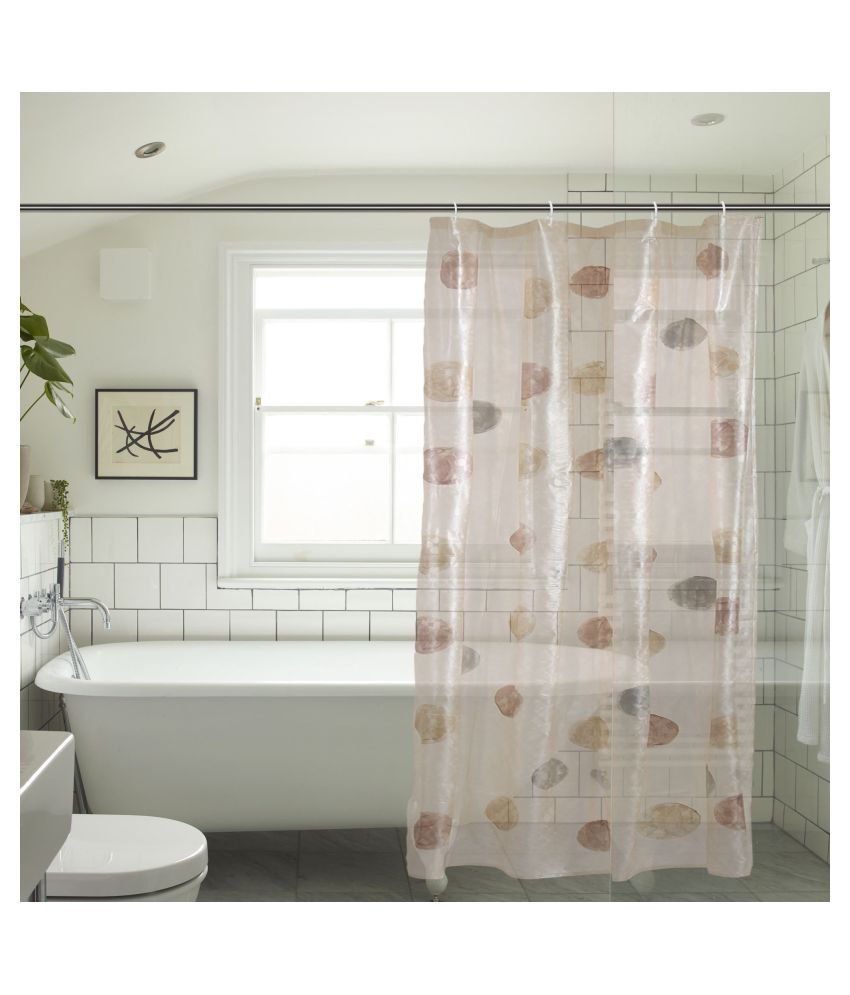 Khushi Creation Single Shower Curtain Brown Others