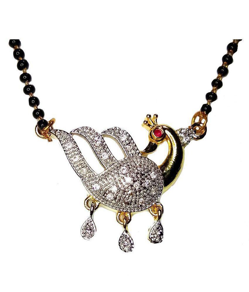 New Latest Peacock Designs American Diamond mangalsutra for women by shrungarika